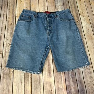 Levi's 501 Bermuda Denim Jean Shorts 36 Button Fly